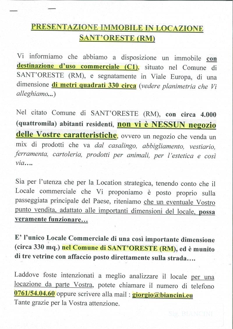 Affittasi LOCALE COMMERCIALE - 商業空間出租